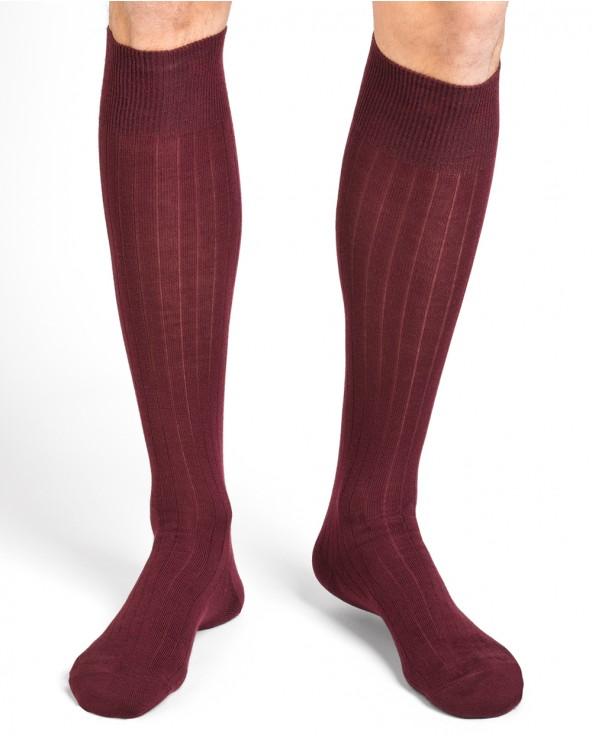 Calze lunghe di lana con interno in cotone
