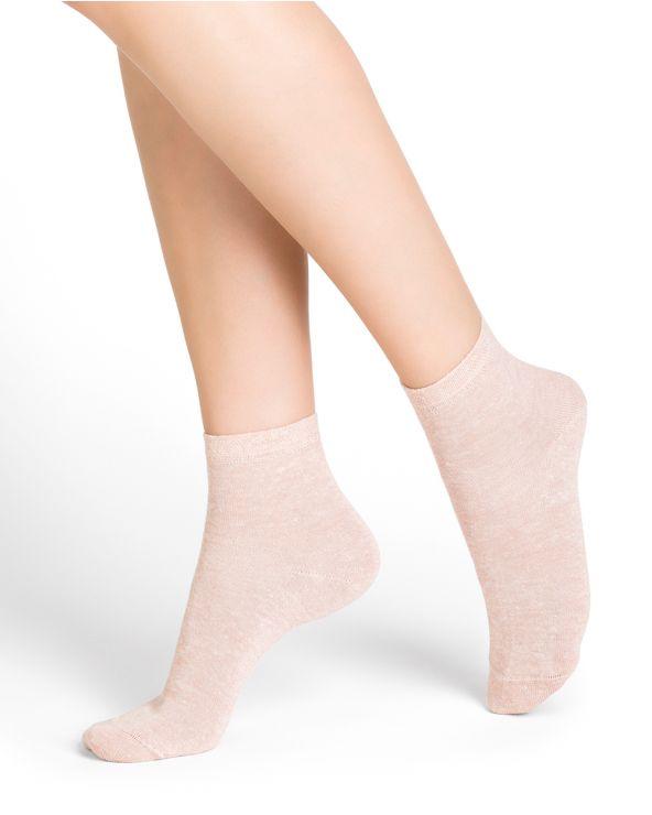 Chaussettes courtes lin et coton
