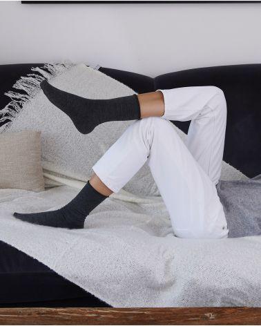 Chaussettes Laine Bord Roulé