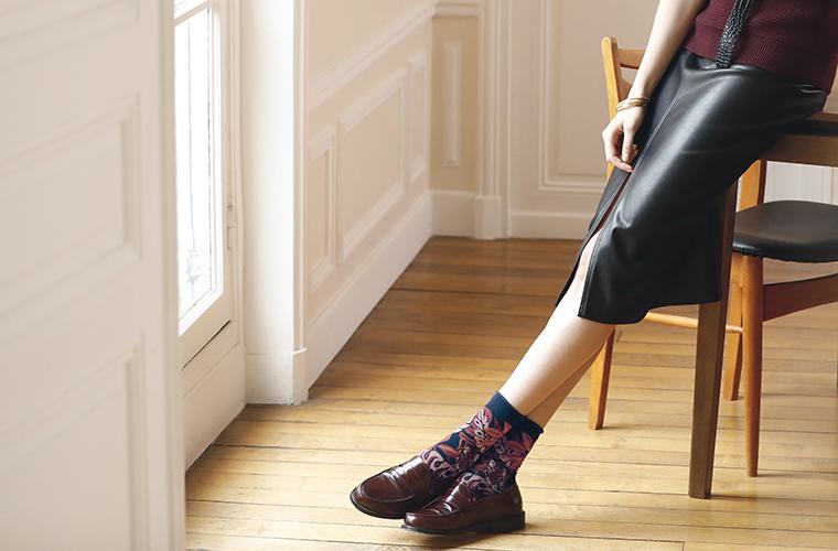 Chaussettes femme coton
